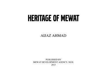 Heritage of Mewat