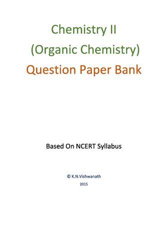 Chemistry II (12th / PUC / NCERT)