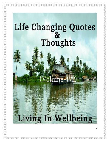 Life Changing Quotes & Thoughts (Volume 172)