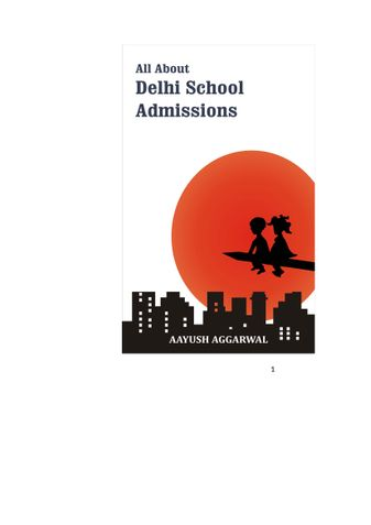 All About Delhi School Admissions