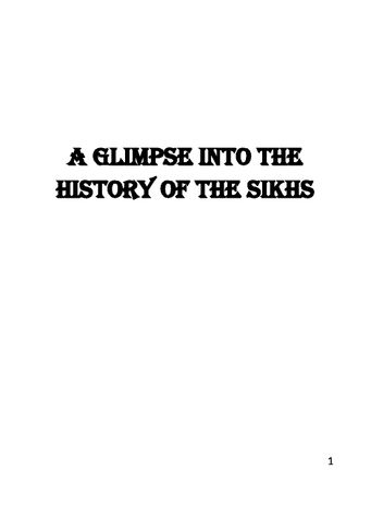 A Glimpse into the History of The Sikhs