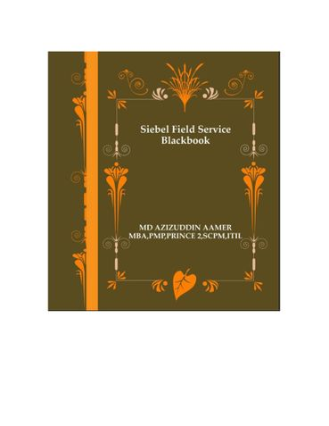 Siebel Field Service Blackbook