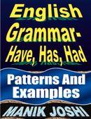 English Grammar- Have, Has, Had