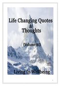 Life Changing Quotes & Thoughts (Volume 80)