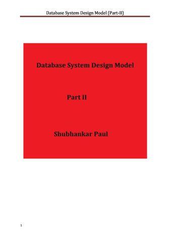 Database System Design Model (Part-II)