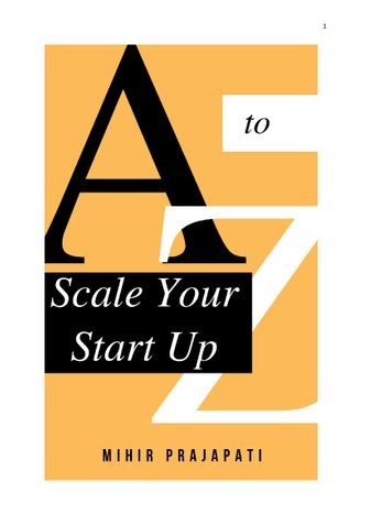 A to Z of Scale a Start Up