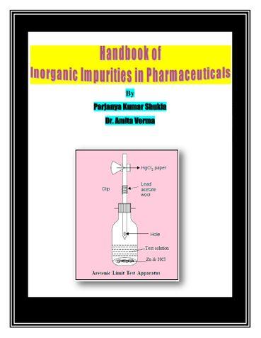 Handbook of Inorganic Impurities in Pharmaceuticals