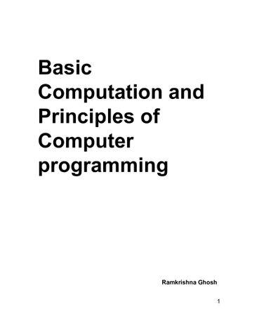 Basic Computation And Principles of Computer Programming