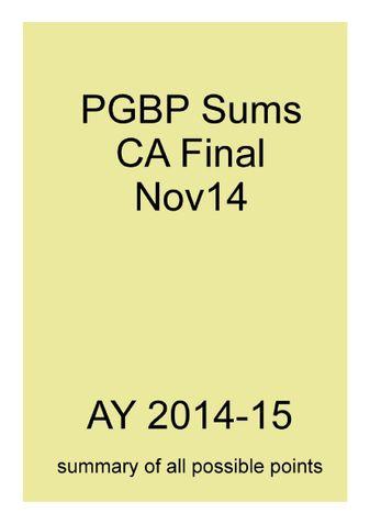 PGBP Sums for CA Final Nov14