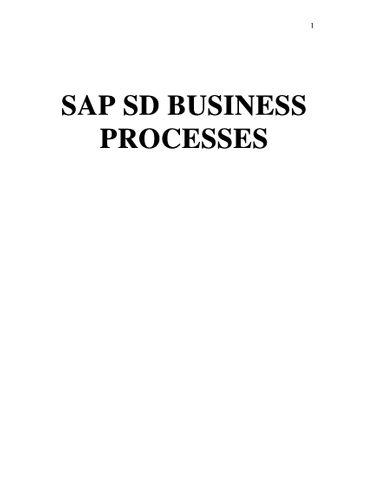 SAP SD BUSINESS PROCESSES