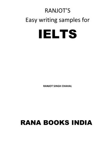 Easy writing samples for IELTS