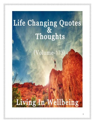 Life Changing Quotes & Thoughts (Volume 173)