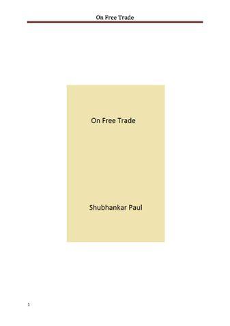 On Free Trade