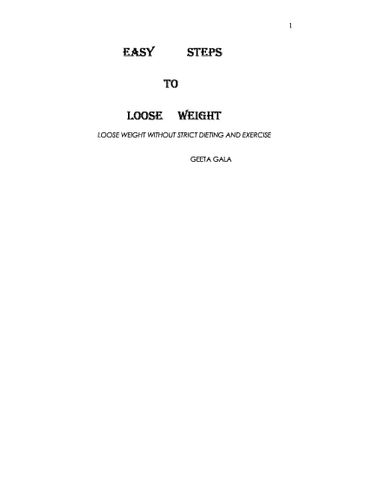 EASY STEPS TO LOOSE WEIGHT