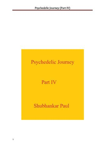 Psychedelic Journey (Part IV)