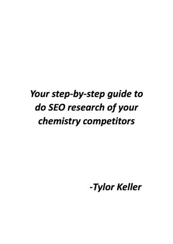 Your step-by-step guide to do SEO research of your chemistry competitors