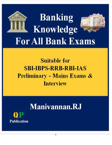 Banking Knowledge For All Bank Exams