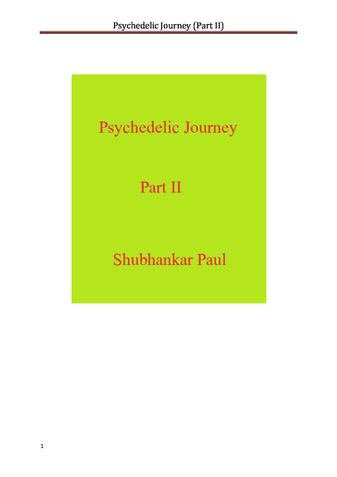 Psychedelic Journey (Part II)