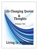 Life Changing Quotes & Thoughts (Volume 183)