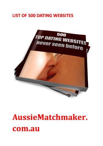 500 TOP DATING WEBSITES NEVER SEEN BEFORE