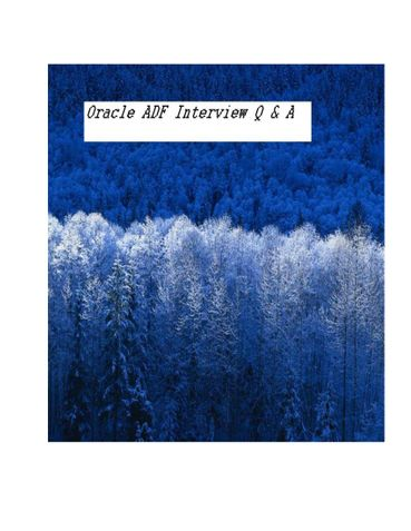 Oracle ADF Interview Q &  A