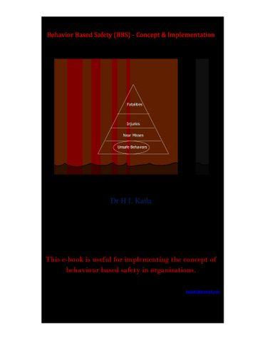 Behavior Based Safety (BBS) - Concept & Implementation