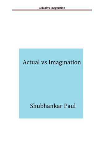 Actual vs Imagination