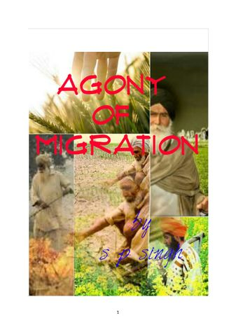 Agony of migration