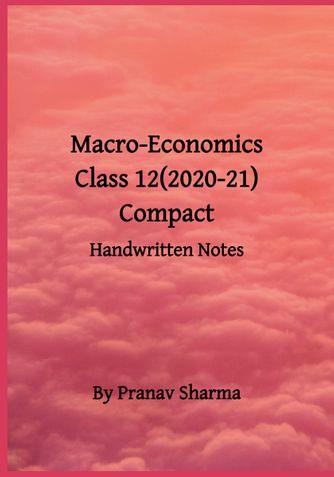 Macro Economics for Class 12 (2020-21)