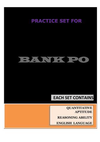The Ultimate SBI PO Preliminary Exam Practice Set By WiFiVidyarthi