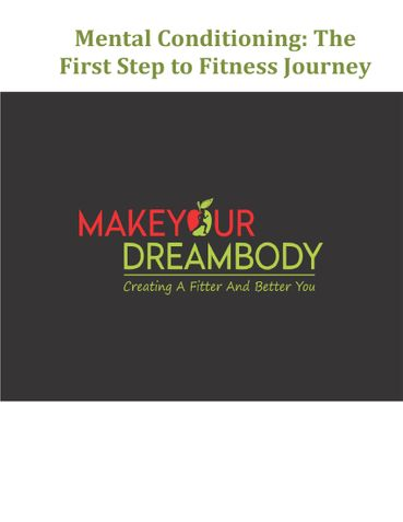 Mental Conditioning - First Step To Fitness Journey