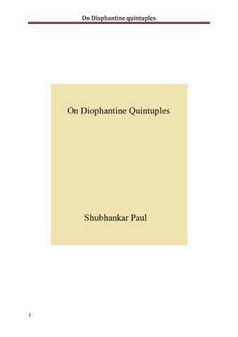 On Diophantine quintuples