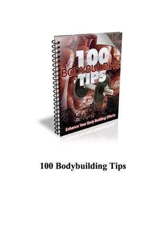 100 Body Building tips