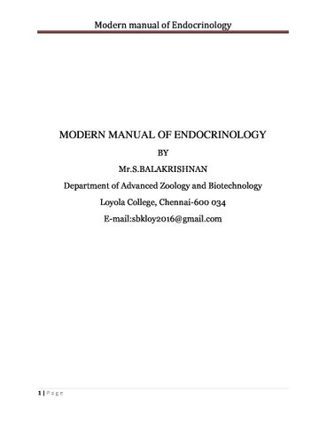 Modern manual of Endocrinology