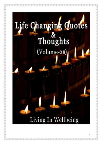 Life Changing Quotes & Thoughts (Volume 28)