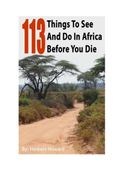 113 Things To See And Do In Africa Before You Die