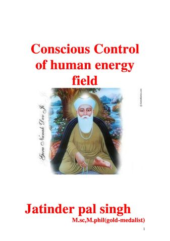 Conscious Control of human energy field