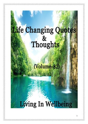 Life Changing Quotes & Thoughts (Volume 82)