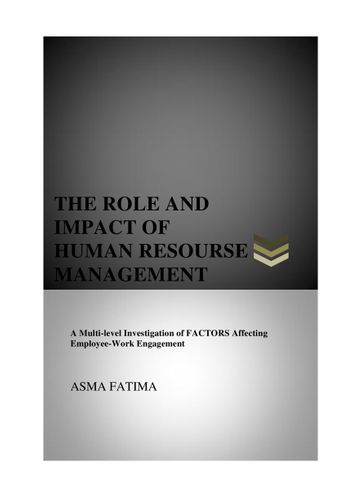 Role and Impact of HRM