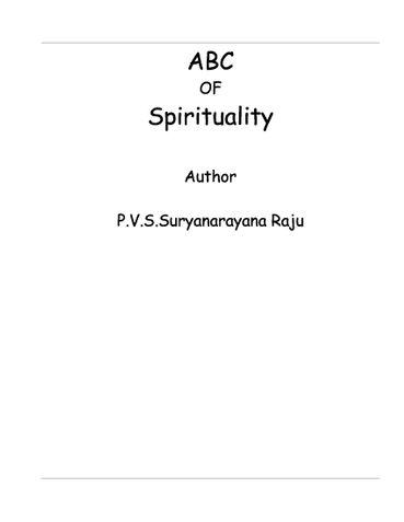 A B C of Spirituality