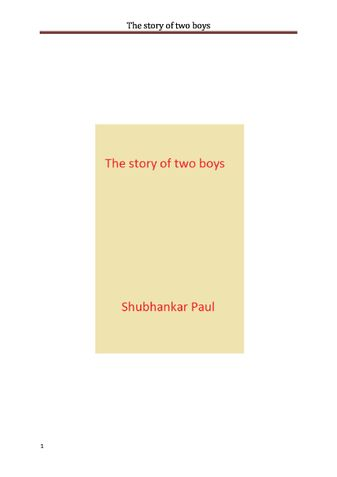 The story of two boys