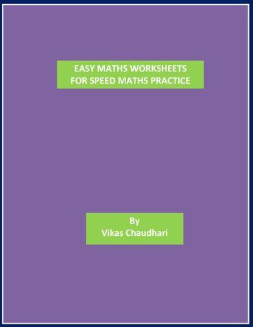 Easy Maths Worksheets Sample3