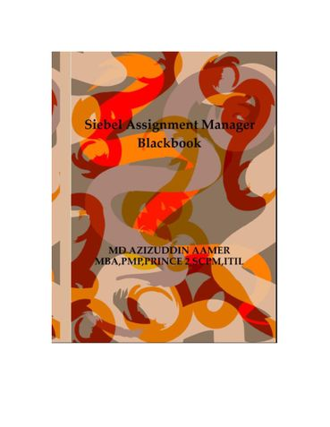 Siebel Assignment Manager Blackbook