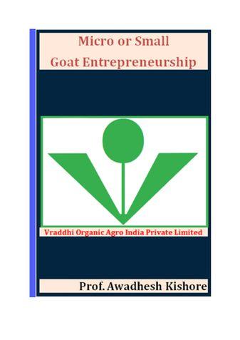 Micro or Small Goat Entrepreneurship