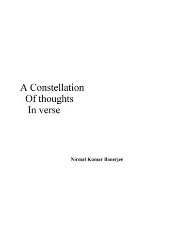 A Constellation of thoughts in verse
