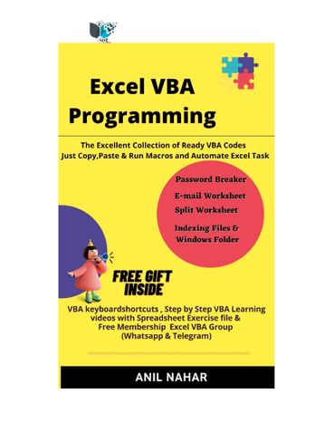 Excel VBA Programming (Use for Functional Users)