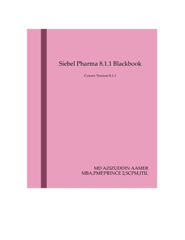 Siebel Pharma 8.1.1 Blackbook
