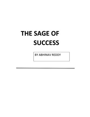 The Sage Of Success