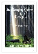 Life Changing Quotes & Thoughts (Volume 61)