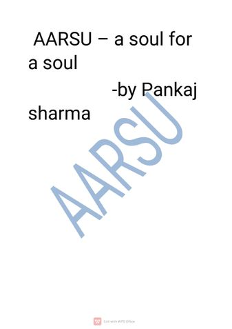 Aarsu - a soul for a soul